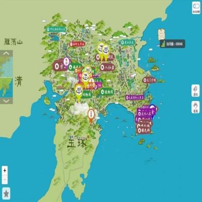 全域旅游手绘地图